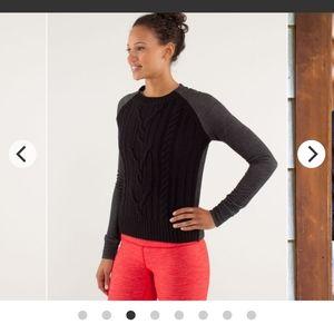 Lululemon-St Moritz Sweater-Sz 4-Black-UC